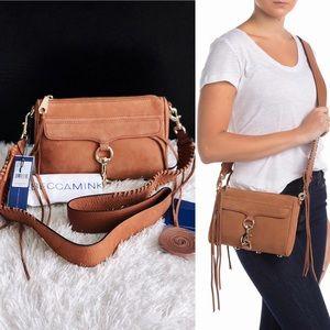 ✨New REBECCA MINKOFF Mini Mac Nubuck Crossbody Bag